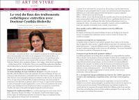 Articles à propos de la clinique Antiaging de Montréal de Dre Cynthia Stolovitz dans Huff post - Art de vivre