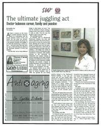 Articles à propos de la clinique Antiaging de Montréal de Dre Cynthia Stolovitz dans The Suburban